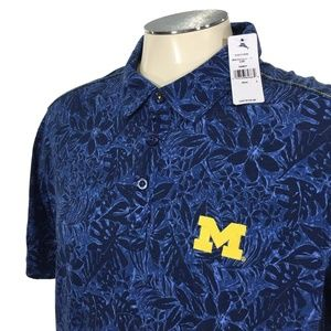 Tommy Bahama Michigan Wolverines Hawaiian Polo